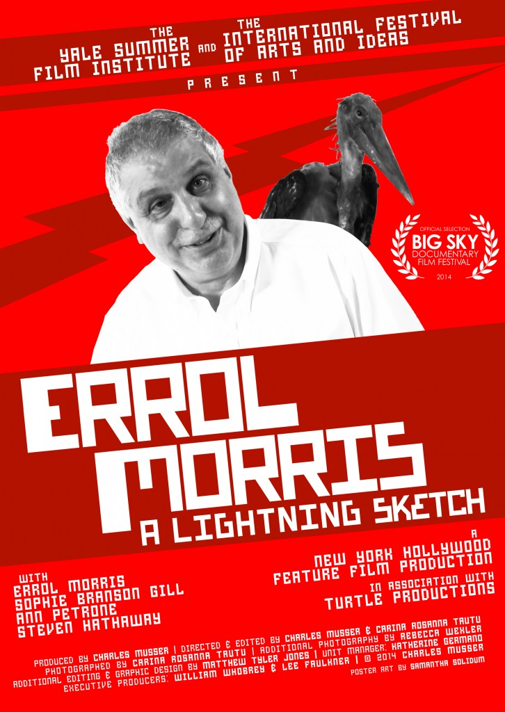 Errol Morris Poster (More Red, Horizontal Laurel)