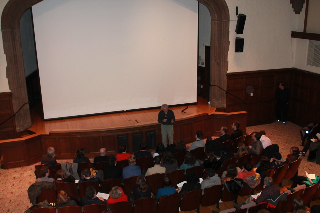 After the screening: Ken Jacobs at Yale