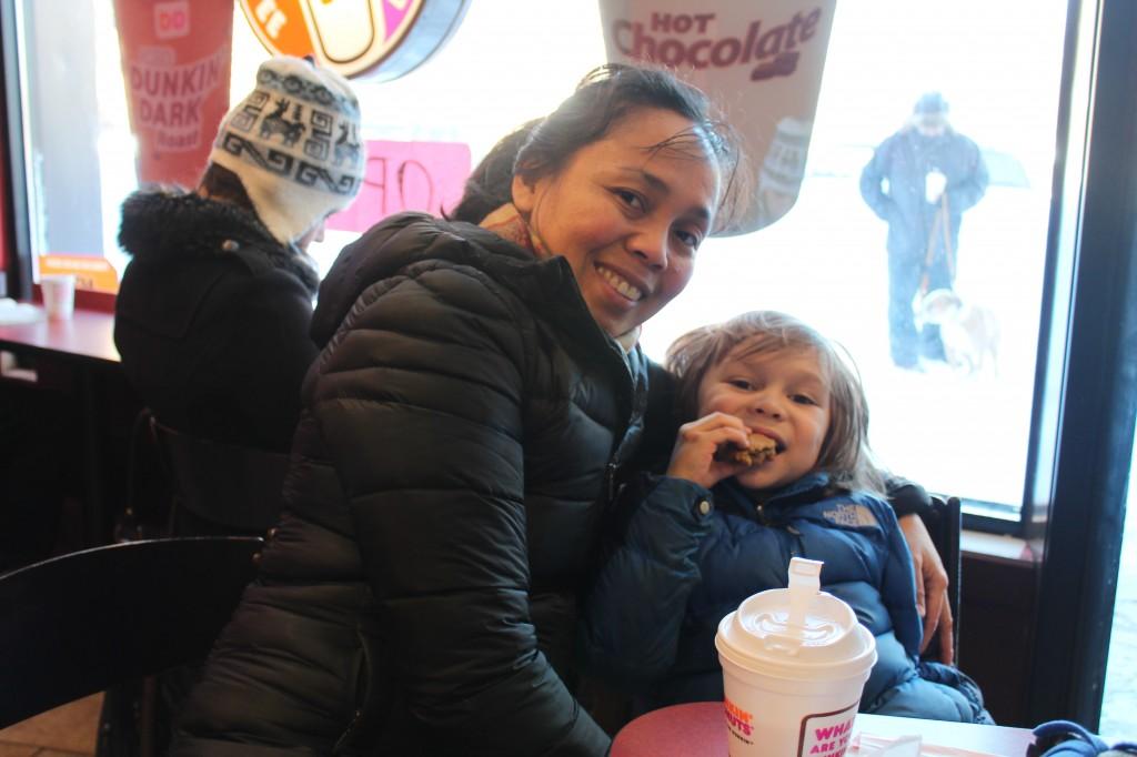At Dunkin' Donuts