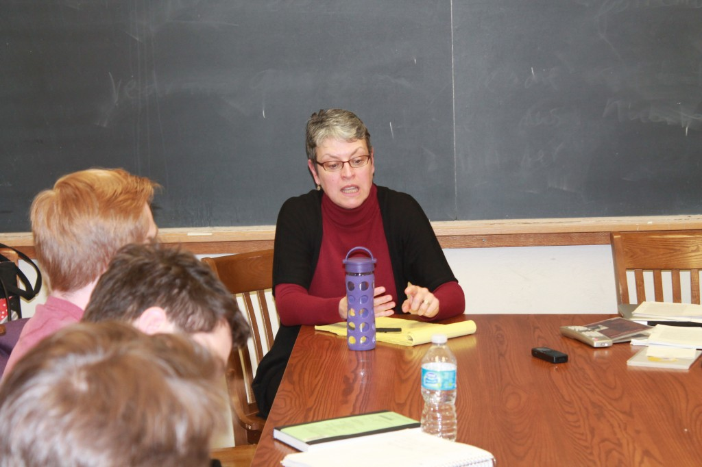 Shelley Stamp in my Yale classroom