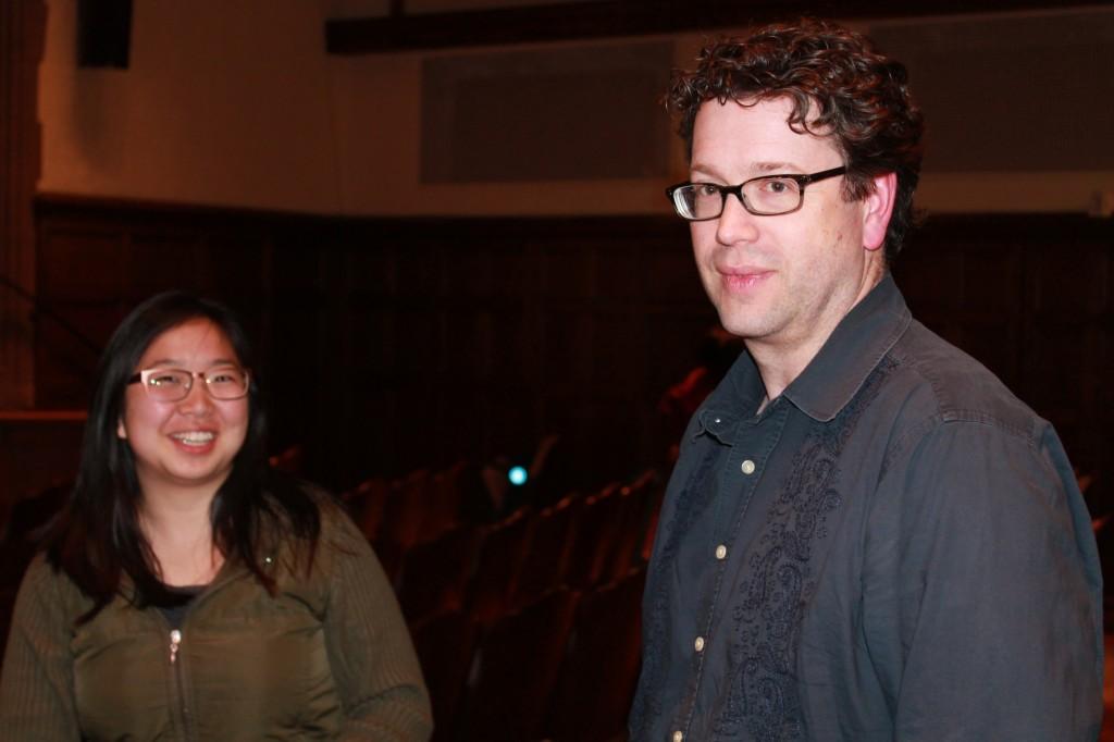 Eunju Namkung and J.D. Connor (Director of Undergraduate Studies)