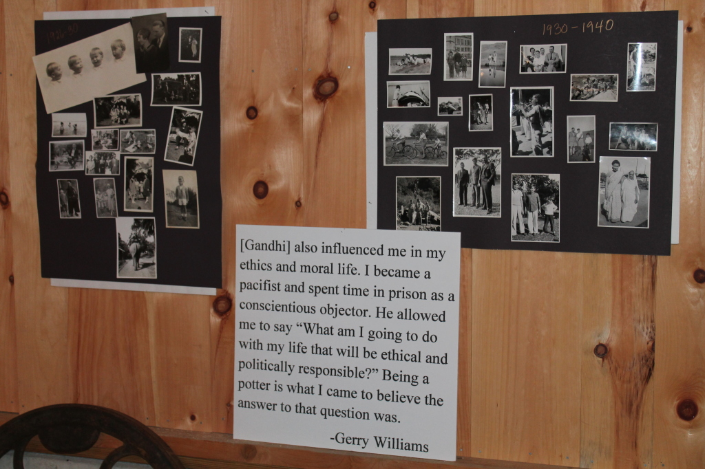 Gerry's daughters, Jenny and Shelley, assembled a series of panels documenting Gerry's life.