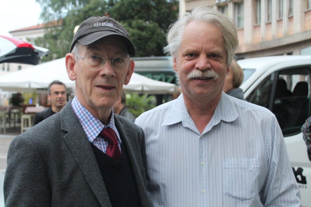 With Kevin Brownlow